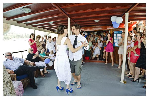 Wedding on a boat