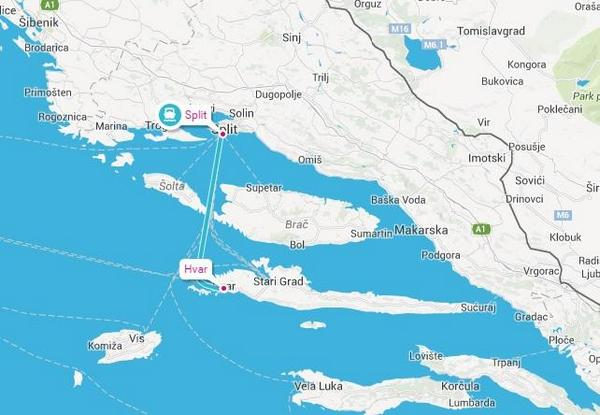 How to travel from Split to Hvar?